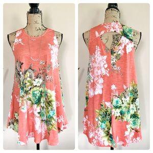 Tops - Last 1! Peachy floral swing top